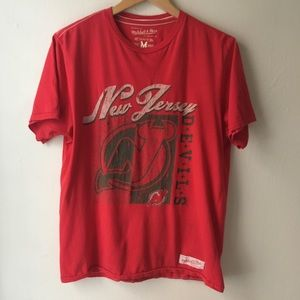 New Jersey Devils Red Graphic Tee NHL Cotton M